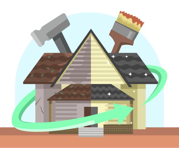 Rénovation maison, logement, cuisine, salle de bain, bureaux, entreprise